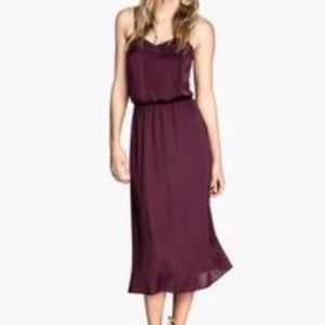 H&M Conscious Collection Burgundy Slip Dress